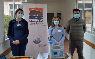 ARAUCO realiza donación de ventilador de transporte al Hospital de Constitución